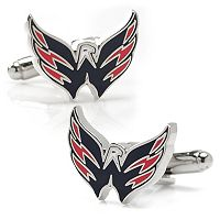 Washington Capitals Rhodium-Plated Cuff Links