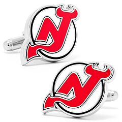 New Jersey Devils Rhodium-Plated Cuff Links