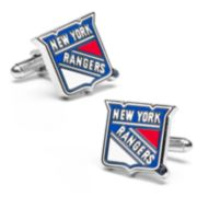 New York Rangers Rhodium-Plated Cuff Links