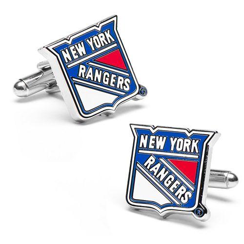 New York Rangers Rhodium-Plated Cuff Links