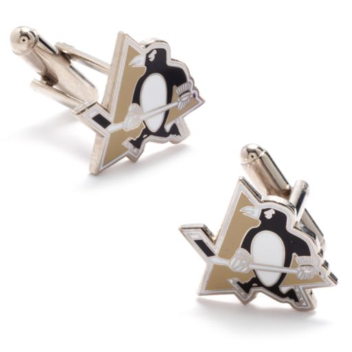 Pittsburgh Penguins Rhodium-Plated Cuff Links