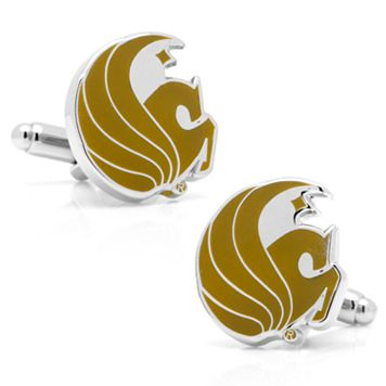 Central Florida Knights Rhodium-Plated Cuff Links