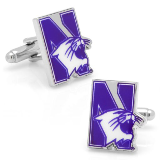 Northwestern Wildcats Rhodium-Plated Cuff Links