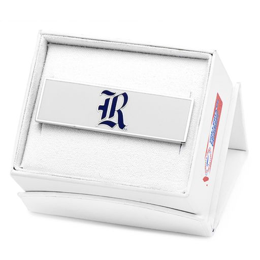 Rice Owls Rhodium-Plated Money Clip