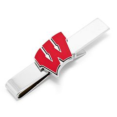 Wisconsin Badgers Rhodium-Plated Tie Bar