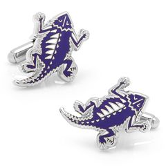 TCU Horned Frog Vintage Rhodium-Plated Cuff Links