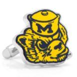 Michigan Wolverines Vintage Rhodium-Plated Cuff Links