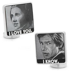 Star Wars 'I Love You, I Know' Silver-Plated Cuff Links