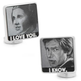 "Star Wars ""I Love You, I Know"" Silver-Plated Cuff Links"
