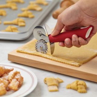 Cake Boss Stainless Steel Tools and Gadgets Double Pastry Wheel