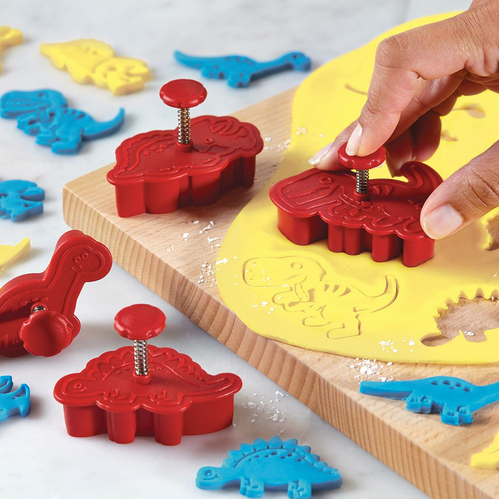 Cake Decorating Play Dough Dinosaur Party Set Of 4 Cookie Cutter