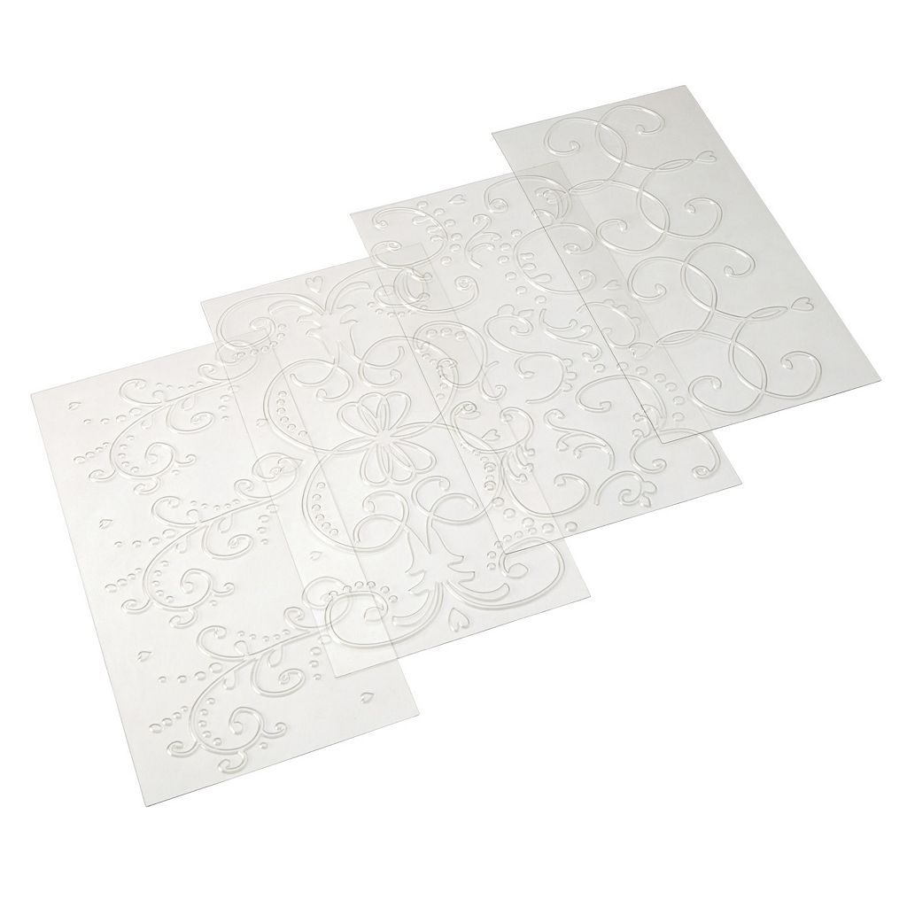 Cake Boss™ Decorating Tools 4-pc. Scroll Fondant Imprint Mat Set