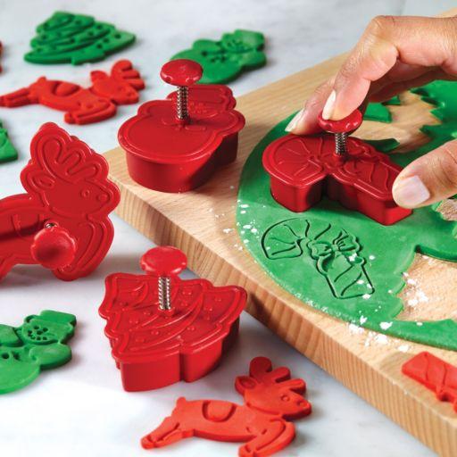 Cake Boss Decorating Tools 4-pc. Christmas Fondant Press Set
