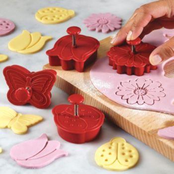 Cake Boss Decorating Tools 4-pc. Springtime Fondant Press Set