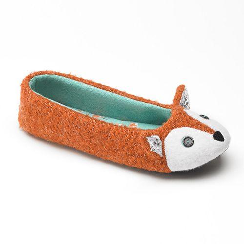 SO® Fox Ballerina Slippers