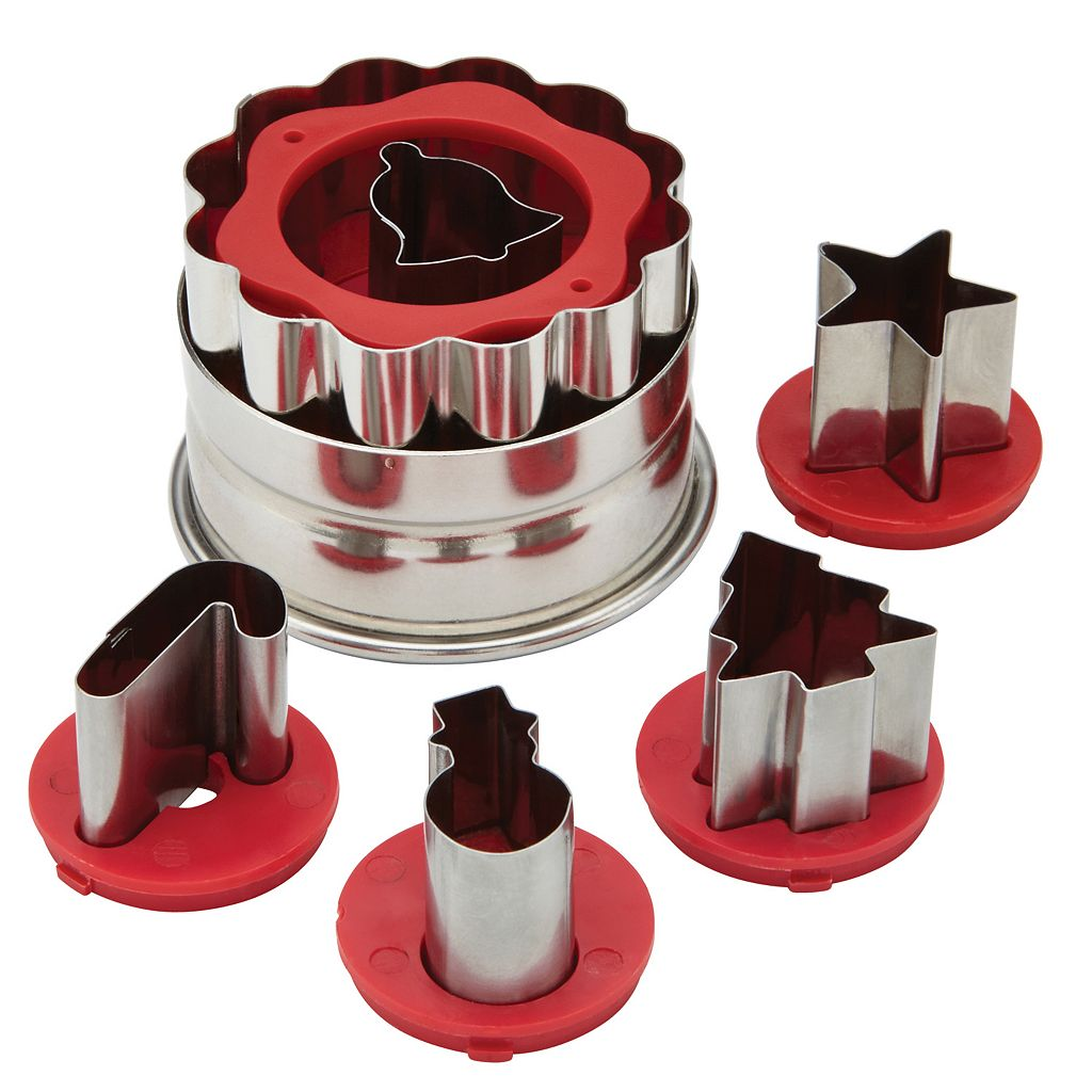 Cake Boss Decorating Tools 6-pc. Holiday Linzer Cookie Cutter Set