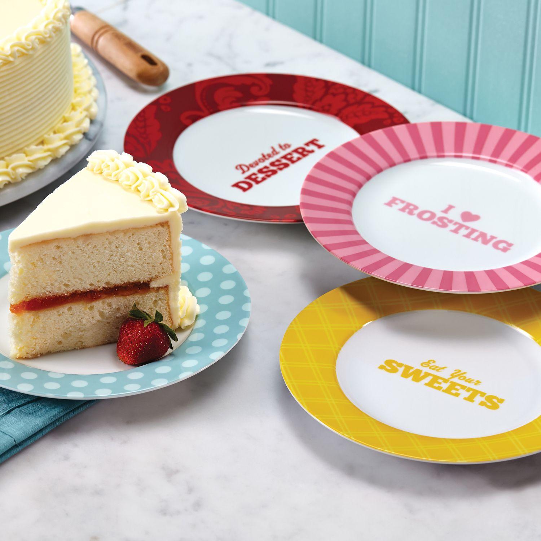 cake boss quotes pc dessert plate set