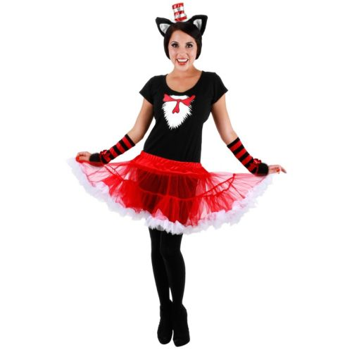 Cat In The Hat Tutu Costume - Adult
