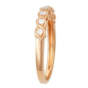Simply Vera Vera Wang 14k Gold 1/7 ct. T.W. Diamond Twist Wedding Ring