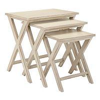 Safavieh Maryann 3 pc Stacking Tray Table Set
