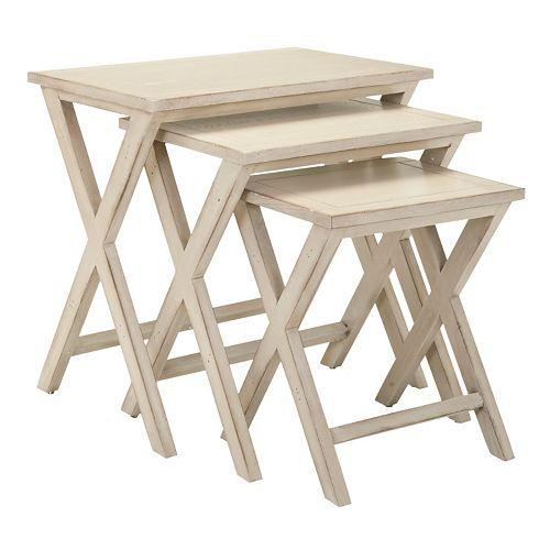 Safavieh maryann pc stacking tray table set