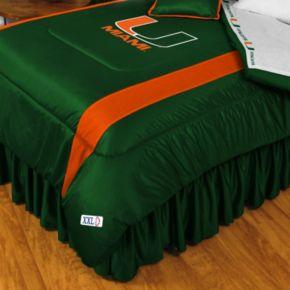 Miami Hurricanes Sidelines Comforter - Queen