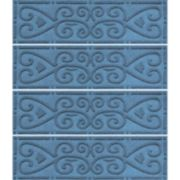 WaterGuard Scroll 4-pk. Indoor Outdoor Stair Tread Set