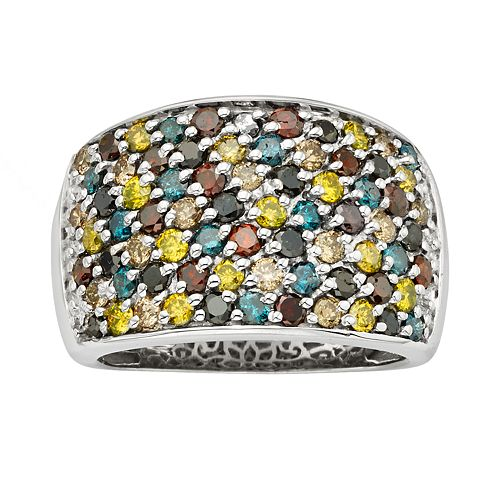 Sterling Silver 2-ct. T.W. Diamond Ring