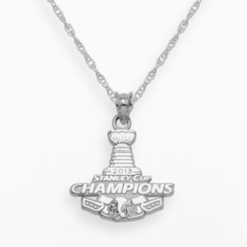LogoArt Chicago Blackhawks 2013 Stanley Cup Champions Sterling Silver Pendant