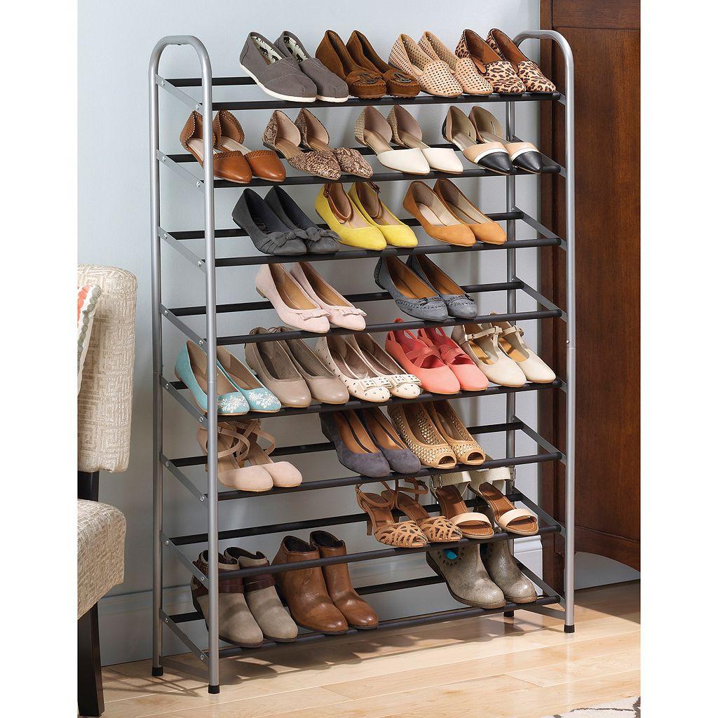 Whitmor 8-Tier Standing Shoe Rack