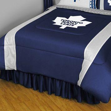 Toronto Maple Leafs Sidelines Comforter - Queen
