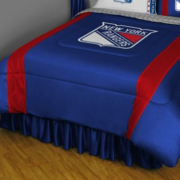 New York Rangers Sidelines Comforter - Queen