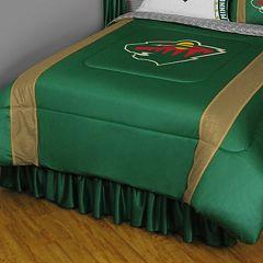 Minnesota Wild Sidelines Comforter - Queen
