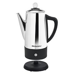 Elite Platinum Stainless Steel 12-Cup Electric Percolator