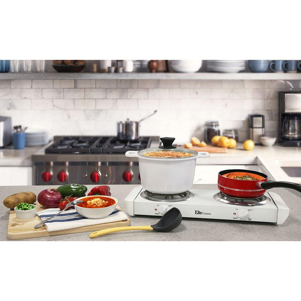 Elite Cuisine Electric Double-Burner Buffet Server