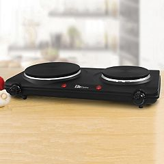 Elite Cuisine Electric Cast-Iron Double-Burner Buffet Server