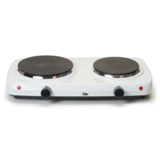 Elite Cuisine Electric Cast-Iron Double-Burner Buffet Server