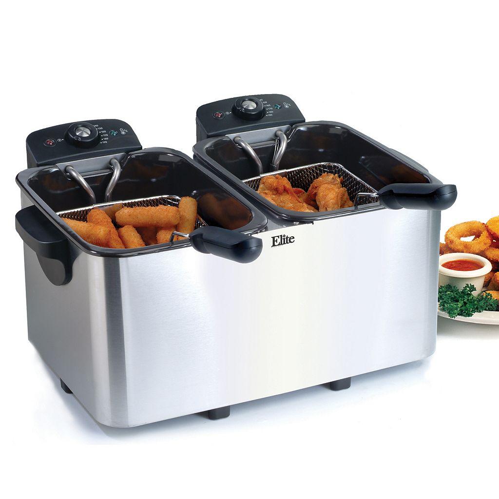 Elite Platinum 6-qt. Immersion Dual Basket Deep Fryer