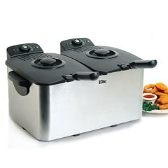 Elite Platinum 8-qt. Dual Basket Deep Fryer