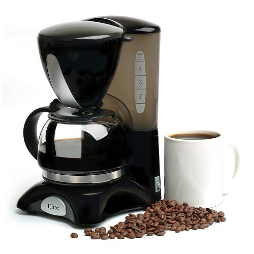 Kohl S One Cup Coffee Maker : Elite Cuisine 4-Cup Coffee Maker