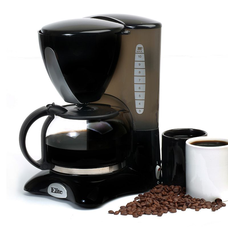 Kohl S One Cup Coffee Maker : ELITE CUISINE 10-CUP COFFEE MAKER