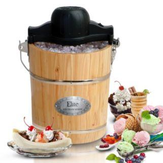 Elite Gourmet 6-qt. Wood Bucket Ice Cream Maker