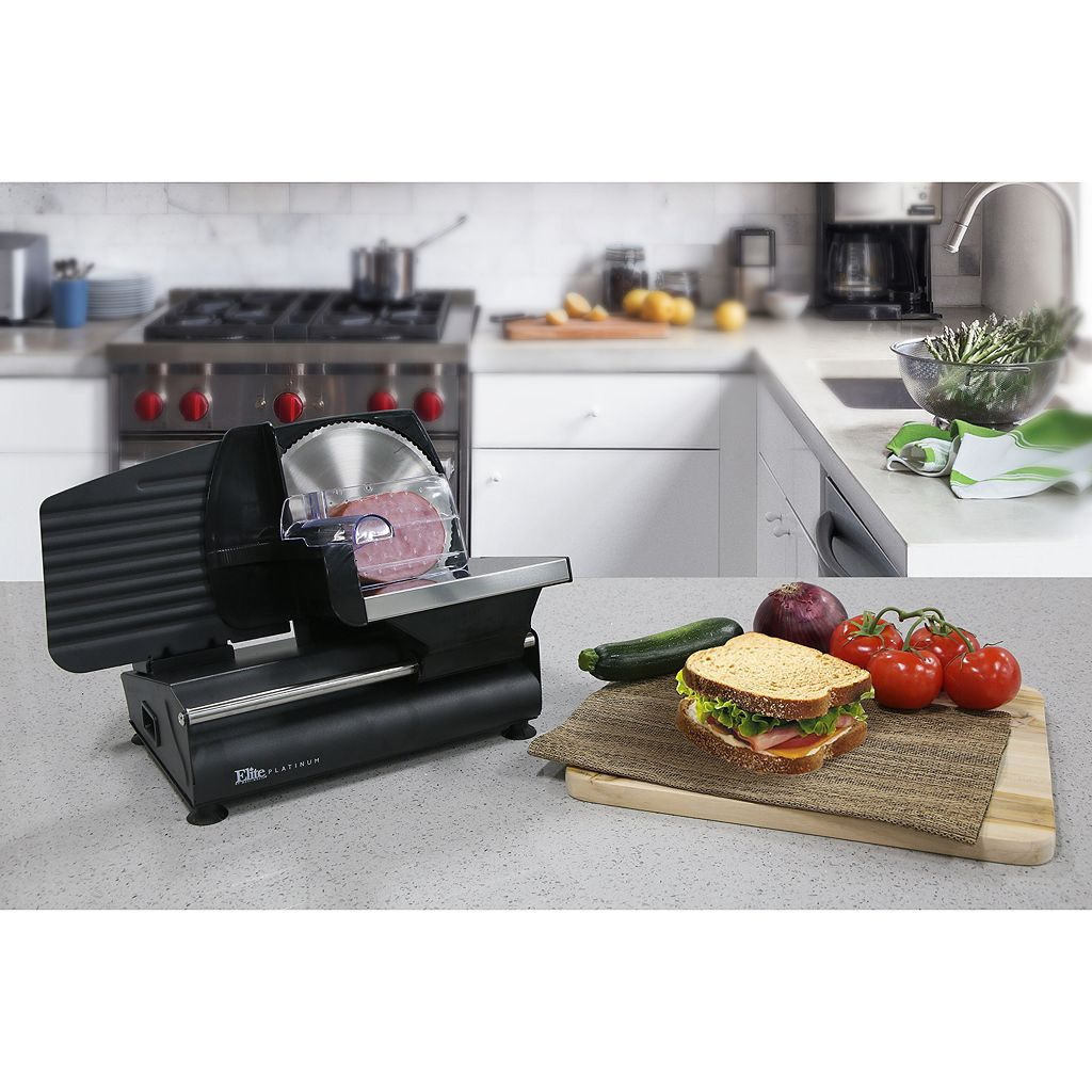 Elite Platinum Electric Food and Meat Slicer