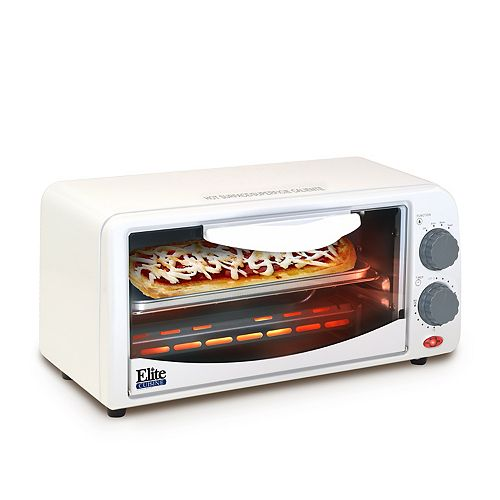Elite Cuisine 2-Slice Toaster Oven with Broiler