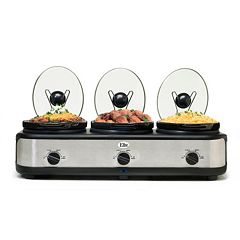 Elite Platinum Triple Slow Cooker