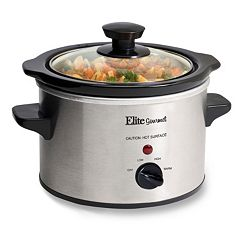 Elite Gourmet 1.5-qt. Stainless Steel Mini Slow Cooker