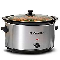 Elite Platinum 8.5-qt. Stainless Steel Slow Cooker