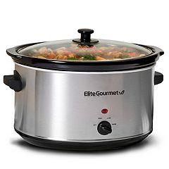Elite Platinum 8.5-qt. Stainless Steel Slow Cooker