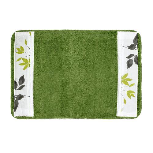 Mayan Leaf Banded Bath Rug