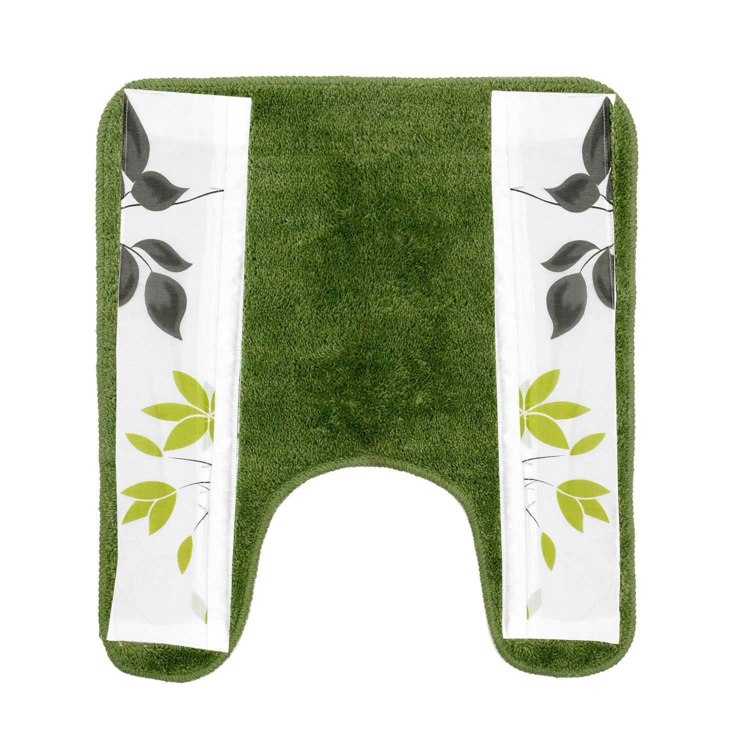 Mayan Leaf Banded Contour Bath Rug. Mayan Leaf Bathroom Accessories  Collection